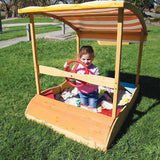Lifespan Captain Boat Sandpit with Canopy Outdoor Play- Bounce and Swing