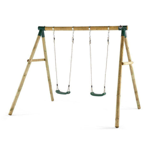 PLUM Marmoset Wooden Swing Set Sliders&Swings- Bounce and Swing
