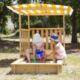 Lifespan Jack Sandpit with Canopy Outdoor Play- Bounce and Swing