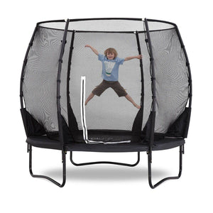 PLUM 8ft Premium Magnitude Spring Safe® Trampoline Trampolines- Bounce and Swing