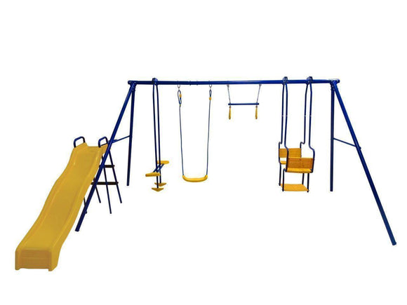 PLUM 5 unit Swings Set & Slide Sliders&Swings- Bounce and Swing
