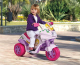 Peg Perego Raider Princess Electric Kids Motobike 6v Ride On- Bounce and Swing