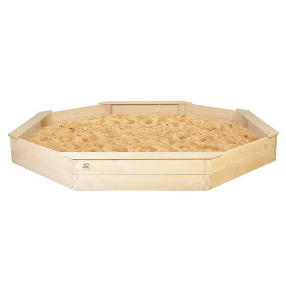 Lifespan Large Octagonal Sandpit with Cover Outdoor Play- Bounce and Swing