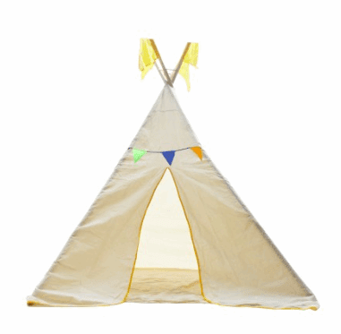 QToys Tee Pee Large Outdoor Play- Bounce and Swing