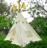 QToys Tee Pee Medium Outdoor Play- Bounce and Swing