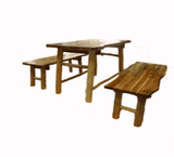 QToys Outdoor Tree Table & Bench Set Outdoor Furniture- Bounce and Swing
