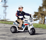 Peg Perego Raider Police Kids Motobike 6v Ride On- Bounce and Swing