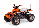 Peg Perego Corral T-Rex Orange Electric Quad 12v Ride On- Bounce and Swing