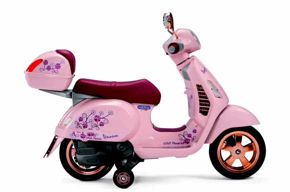Peg Perego Vespa  Mon Amour Scooter Electric Motobike Kids Ride On 12v