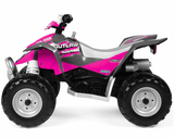 Peg Perego Polaris Outlaw Pink Electric Kids Girls Ride On 12V