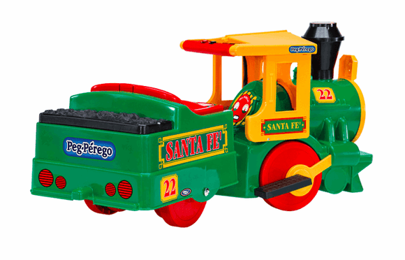 Peg Perego SANTA FE TRAIN GREEN Kids Ride On