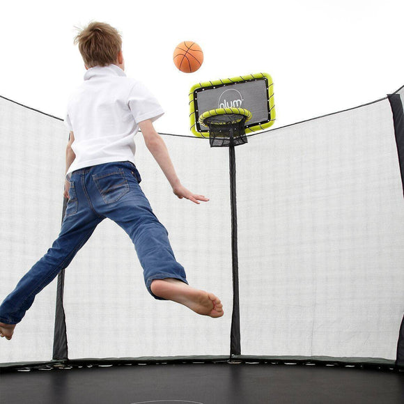 PLUM Trampoline Basketball Kit Trampolines- Bounce and Swing