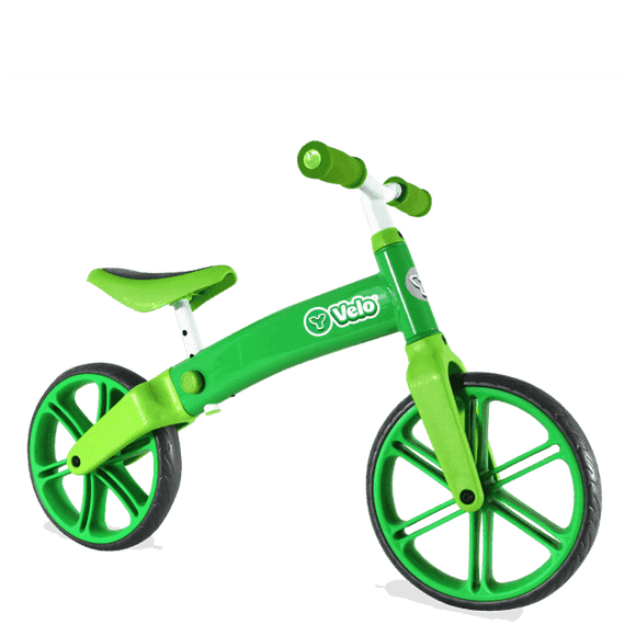Y Velo Balance Bike Green Ride On- Bounce and Swing