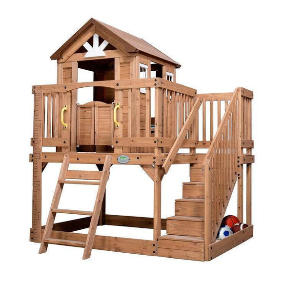 Lifespan BYD Scenic Heights Cubby House Playhouse- Bounce and Swing