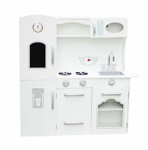 Hide and Seek Kids Wooden White Play Kitchen