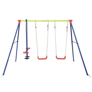 Lifespan Hurley 3 Station Metal Swingset Sliders&Swings- Bounce and Swing