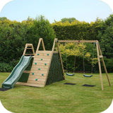 PLUM Climbing Pyramid Play Centre Play Centres- Bounce and Swing