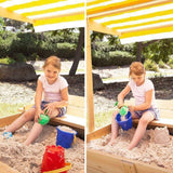 Lifespan Skipper Sandpit with Canopy Outdoor Play- Bounce and Swing
