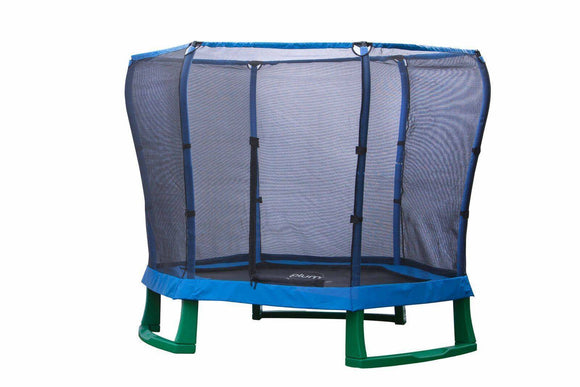 PLUM 7ft Junior Jumper Trampoline - Blue Trampolines- Bounce and Swing
