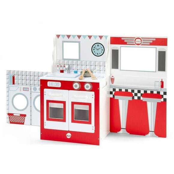 PLUM 3 in 1 Kitchen, Diner and Theatre Play Sets- Bounce and Swing