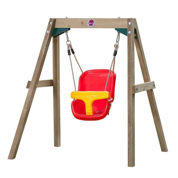 PLUM Wooden Baby Swing Set Sliders&Swings- Bounce and Swing