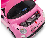 Peg Perego FIAT 500 STAR PINK Electric Car 6v Ride On- Bounce and Swing