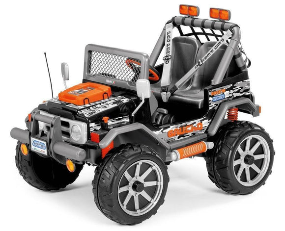 Peg Perego Gaucho Rock'in Electric Car Quad 12v Ride On- Bounce and Swing