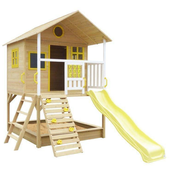 Lifespan Warrigal Cubby House with Yellow Slide Playhouse- Bounce and Swing