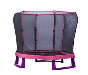 PLUM 7ft Junior Jumper Trampoline - Pink Trampolines- Bounce and Swing