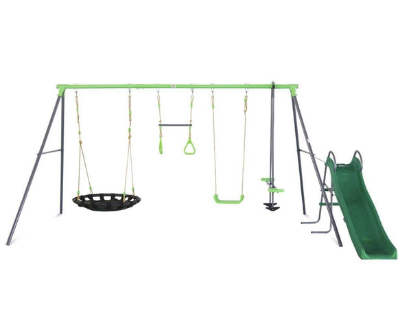 Lifespan Lynx Metal Swing Set with the Slide