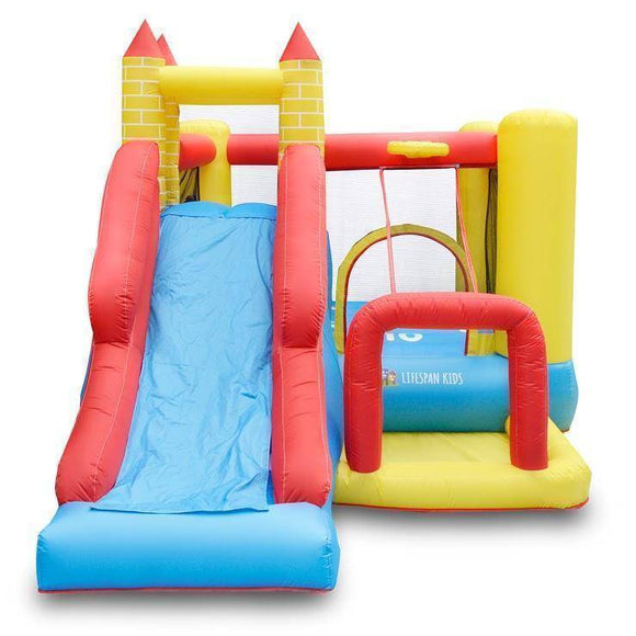 Lifespan Bouncefort Plus 2 Inflatable Jumping Castle Jumping Castles- Bounce and Swing