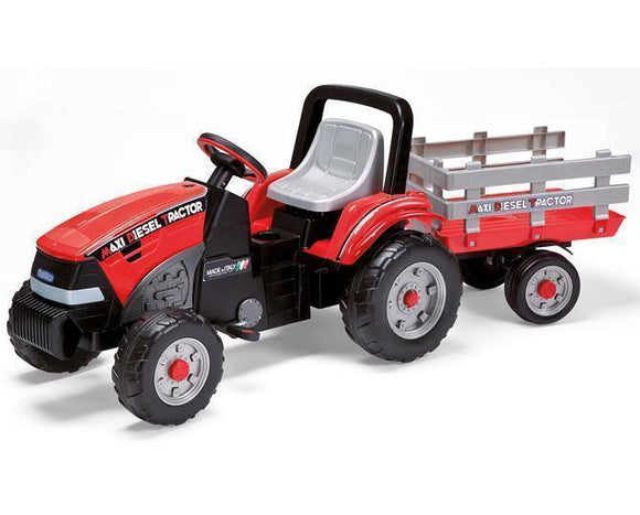 Peg Perego Maxi Diesel Tractor Ride On- Bounce and Swing