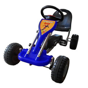 vidaXL Pedal Go Kart Blue Kids Ride On