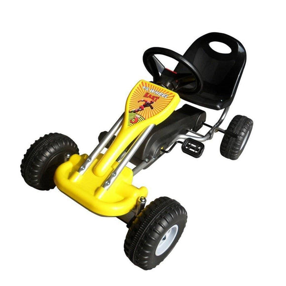 vidaXL Pedal Go Kart Yellow Kids Ride On