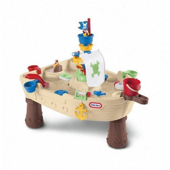 Little Tikes Anchors Away Pirate Ship Water Table Outdoor Play- Bounce and Swing