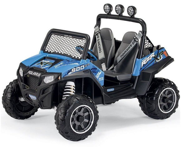Peg Perego Polaris Ranger RZR 900 Blue Electric Quad 12v Ride On- Bounce and Swing