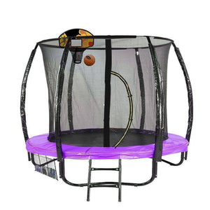 KAHUNA CLASSIC 6FT TRAMPOLINE WITH BASKETBALL SET - PURPLE