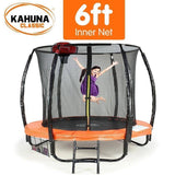 KAHUNA Trampoline 6FT With Basketball Set Orange Trampolines- Bounce and Swing