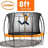 KAHUNA Trampoline 8FT Orange Trampolines- Bounce and Swing