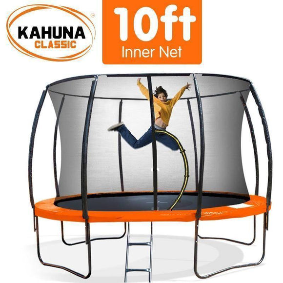 Bounce and Swing:KAHUNA Trampoline 10FT Orange