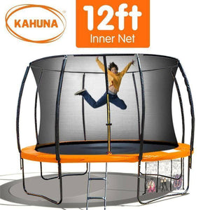KAHUNA Trampoline 12FT Orange Trampolines- Bounce and Swing
