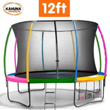 KAHUNA Trampoline 12FT Rainbow Trampolines- Bounce and Swing
