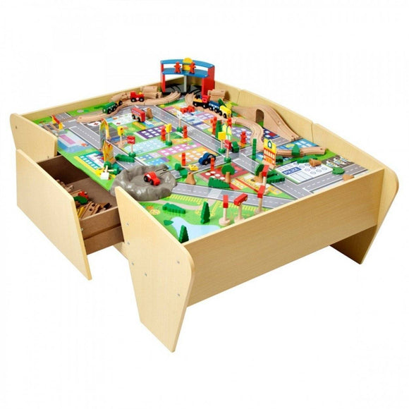 PLUM Train and Track Activity Table Play Sets- Bounce and Swing
