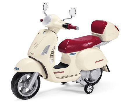 Peg Perego Vespa Scooter Electric Motobike 12v Ride On- Bounce and Swing