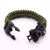 12 in 1 Multi-function Paracord Survival Bracelet whistle  Outdoor Camping Rescue EDC