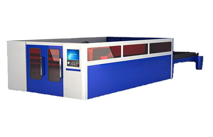 Enclosed Fiber Laser Metal Cutter with Exchange Table (5' x 10') - Blazer Tech
