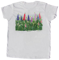 Lupine & Daisies w/Maine White Ladies T-shirt