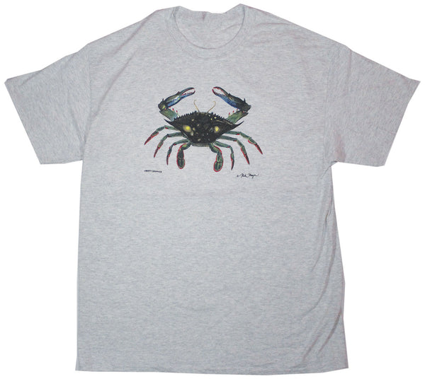 Blue Crab Adult Ash T-shirt