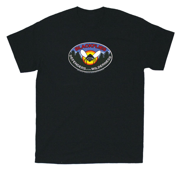Blackfly Badge Adult Black T-shirt