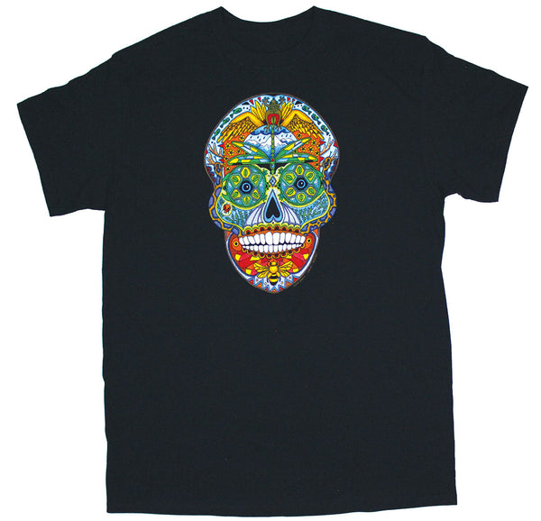 Earth Art Skull Black Adult T-shirt